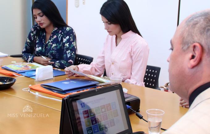 Formación sobre Objetivos de Desarrollo Sostenible para las representantes del Miss Venezuela 2017