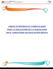 Líneas estratégicas curriculares para la Educación de la sexualidad