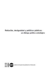 Población, desigualdad y políticas públicas: un diálogo político estratégico