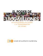 Estado de la Población Mundial 2014